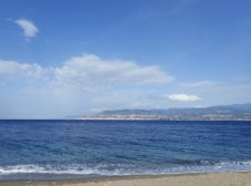 Sea view from the IRBIM in Messina